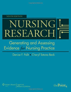 Test Bank for Nursing Research: Generating and Assessing Evidence for Nursing Practice 9th Edition by Polit