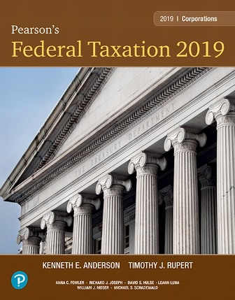 Test Bank for Pearson's Federal Taxation 2019 Corporations, Partnerships, Estates and Trusts 32nd Edition Rupert