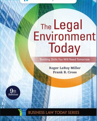 Test Bank for The Legal Environment Today 9th Edition Miller