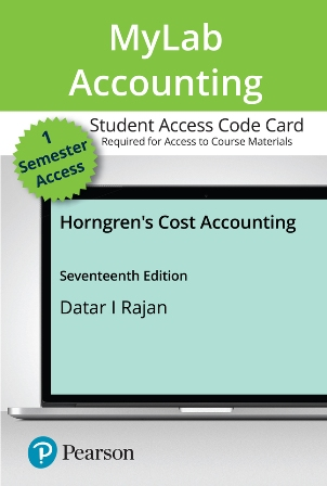 Solution Manual for Horngren's Cost Accounting 17th Edition Datar