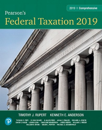 Solution Manual for Pearson's Federal Taxation 2019 Comprehensive 32nd Edition Rupert
