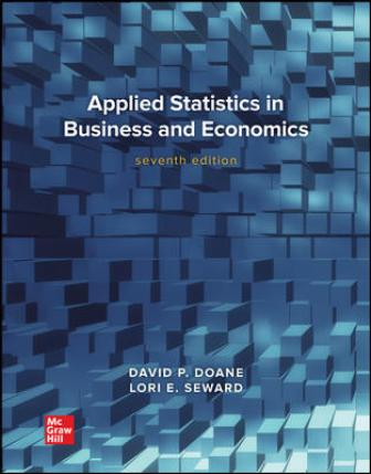 Test Bank for Applied Statistics in Business and Economics 7th Edition Doane