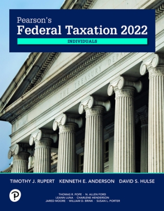 Solution Manual for Pearson's Federal Taxation 2022 Individuals 35th Edition Rupert