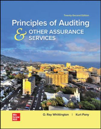 Solution Manual for Principles of Auditing & Other Assurance Services 22nd Edition Whittington