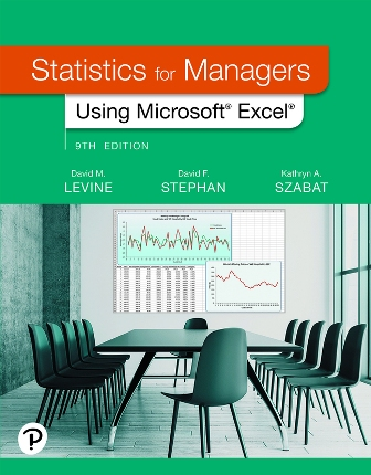 Test Bank for Statistics for Managers Using Microsoft Excel 9th Edition Levine